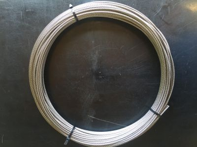 Stainless Steel Wire 3.2mm 7x19 316 Marine Grade.