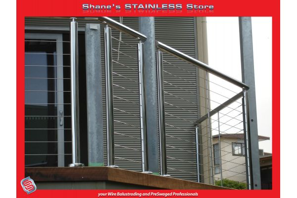 50mm 316 round posts supplied by Shanes Stainless.