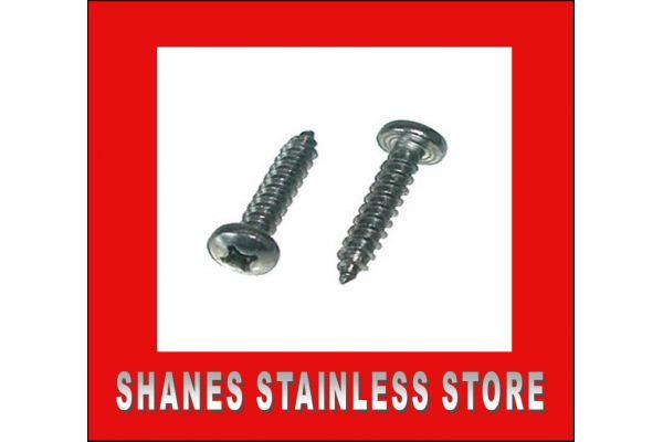 Stainless Steel Pan Head Screws 8gauge x 25mm Box 100