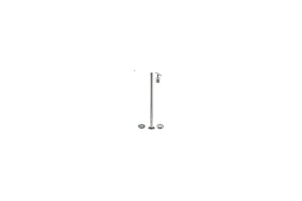 Q Railing 50mm Round post with adjustable top made in Germany 316 Stainless