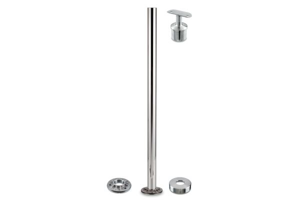 Q Railing 50mm Round post with fixed top made in Germany 316 Stainless.