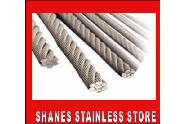 Stainless Steel Wire 3.2mm 1x19 316 Marine Grade.