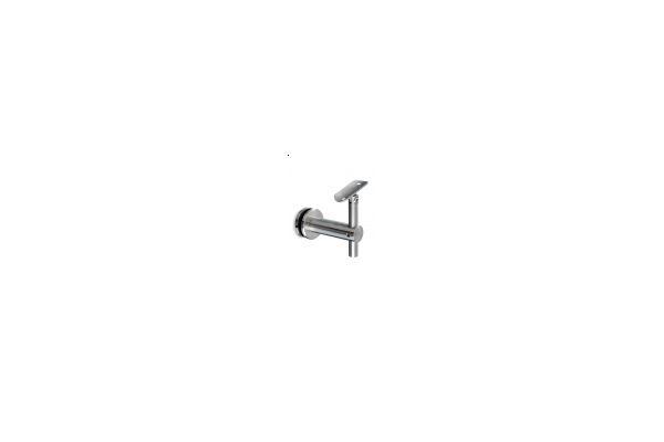 Glass Handrail bracket for round toprail adjustable