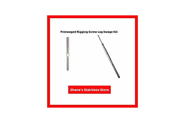 Preswaged rigging lag screw turnbuckle + terminal swage kits