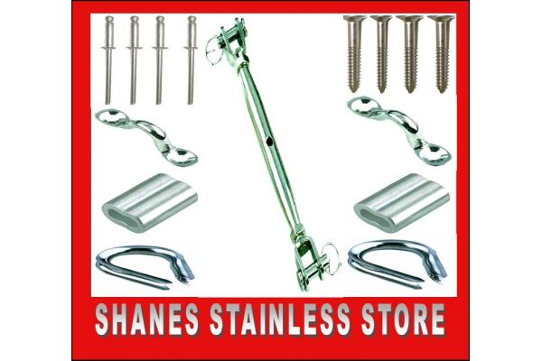 Stainless Steel Balustrading DIY Kit - Bottle/Saddle Kit.