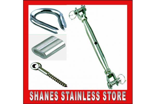 Stainless Steel Balustrading DIY Bottle Lag Screw Kit.