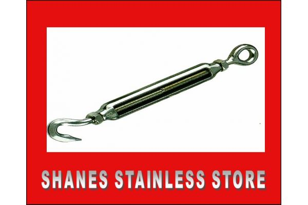 Stainless Steel Hook/Eye Turnbuckle 5mm 316 Marine Grade
