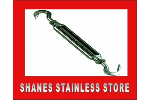 Stainless Steel Hook/Hook Turnbuckle 5mm 316 Marine Grade.
