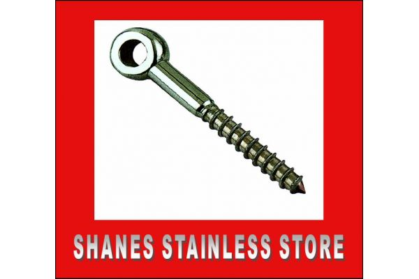 Stainless Steel Lag Screw 6mm x 60mm 316 Marine Grade.