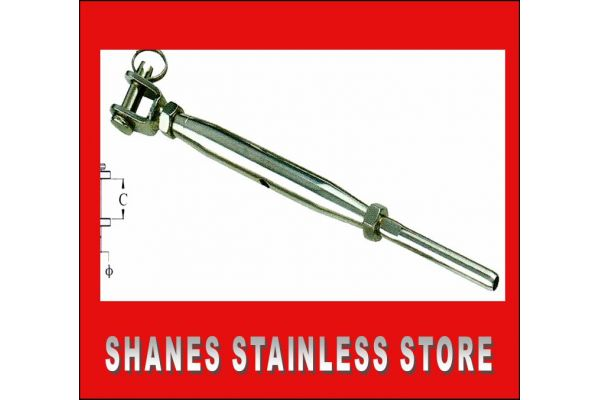 Stainless Steel Jaw Swage Rigging Turnbuckle 3.2mm Wire