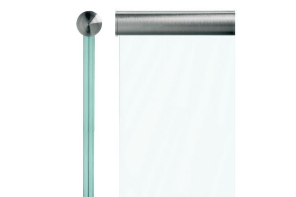 Channel Tube for glass toprail by Q-Railing