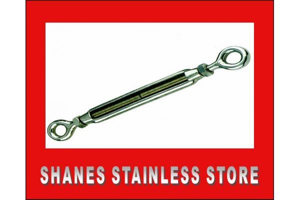 Stainless Steel Eye/Eye Turnbuckle 5mm 316 Marine Grade.
