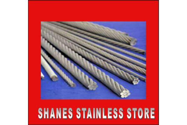 Stainless Steel Wire 3.2mm 7x19 316 Marine Grade.